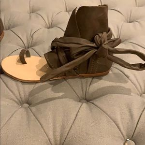 Free People Delaney Leather Boot Sandal NWOT